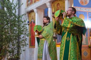В день Святой Троицы настоятель храма совершил Божественную литургию
