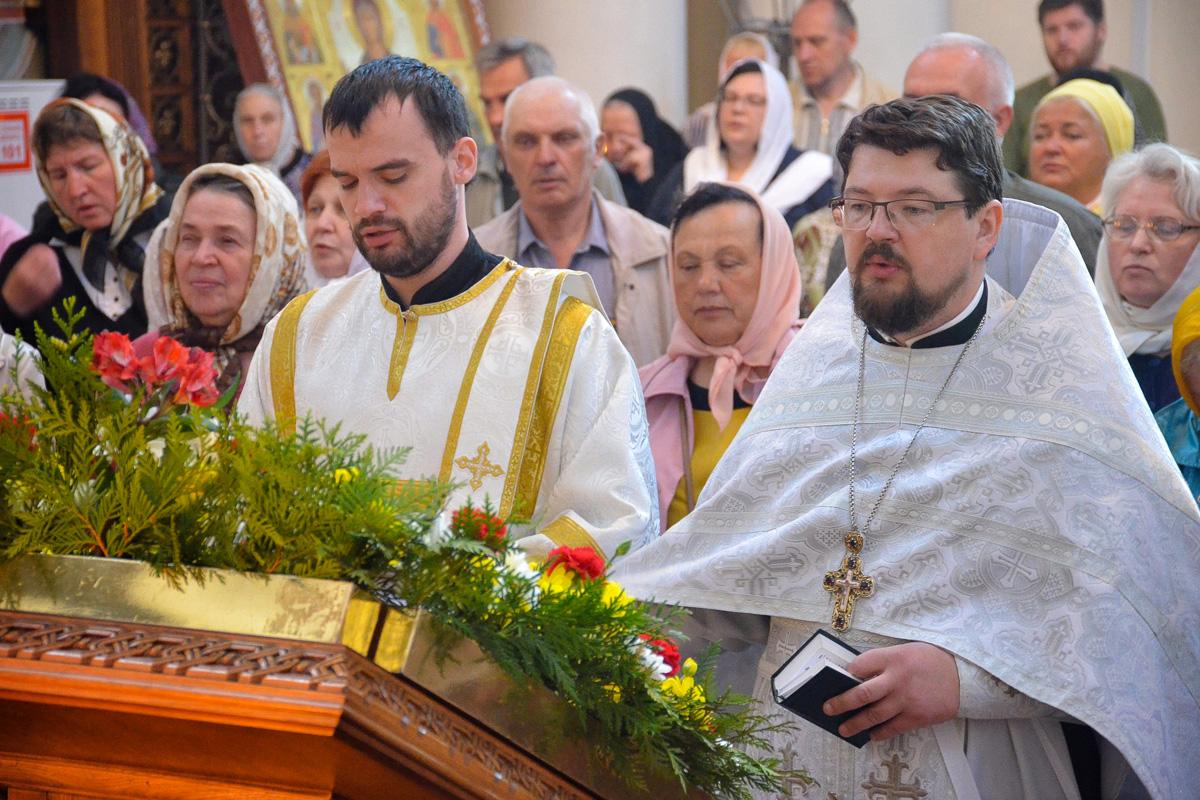 Настоятель храма совершил Божественную литургию в праздник Вознесения Господня