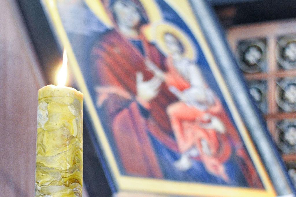 """Освящение """"братской свечи"""" в праздник Сретения"""